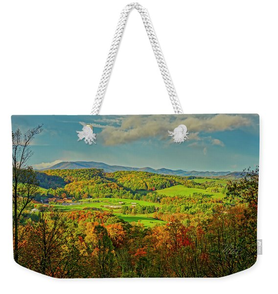 Fall Porch View Weekender Tote Bag