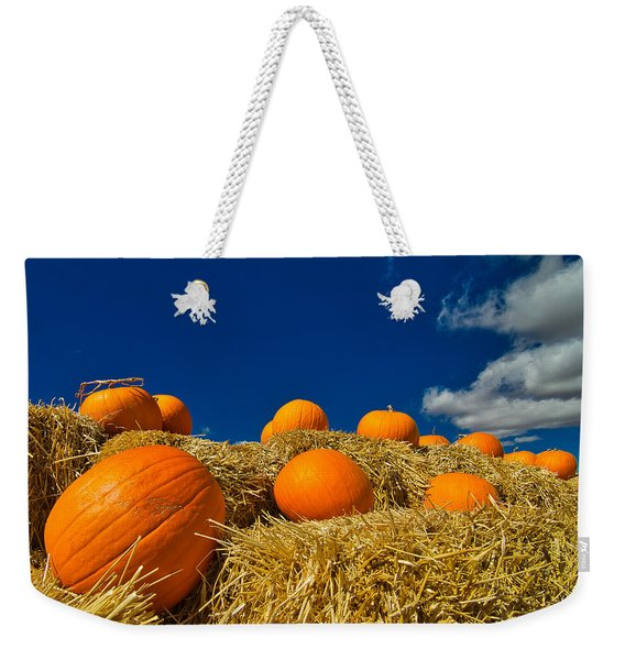 Fall Pumpkins Weekender Tote Bag