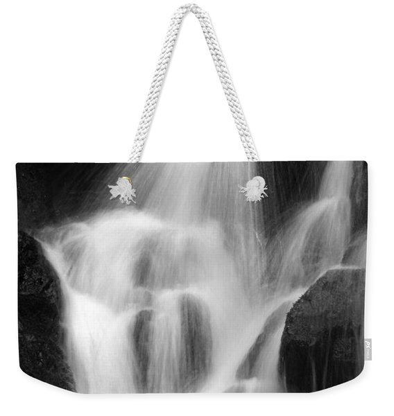 Falling Water, Mount Rainier National Park, Black And White Weekender Tote Bag