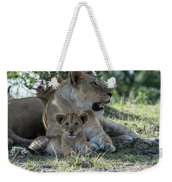 Family Time Weekender Tote Bag