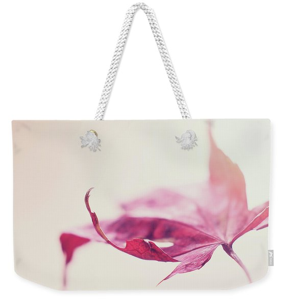 Weekender Tote Bag featuring the photograph Fancy Flight by Michelle Wermuth