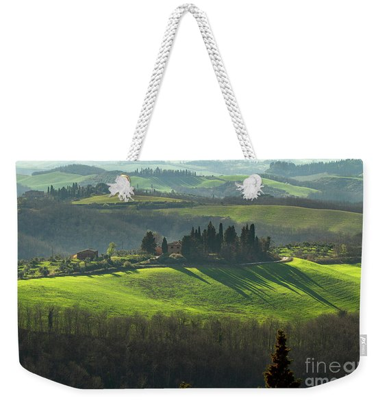 Farmland In Le Crete Senesi, Tuscany-1 Weekender Tote Bag