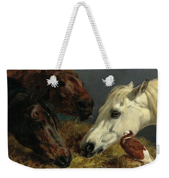 Farmyard Friends, 19th Century Weekender Tote Bag