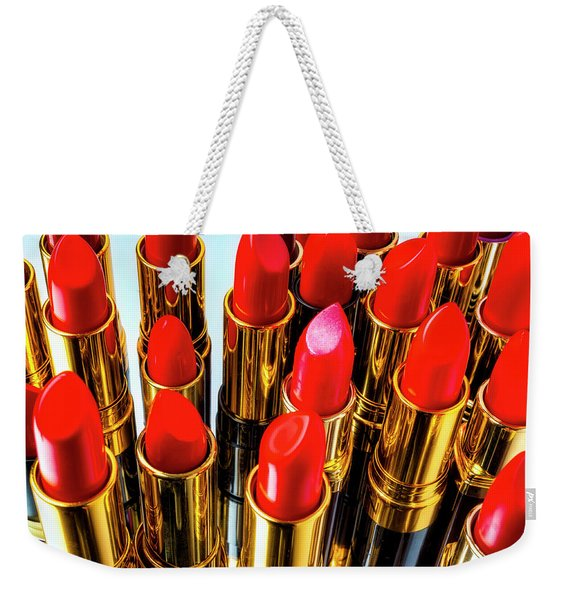Fashionable Red Lipstick Weekender Tote Bag