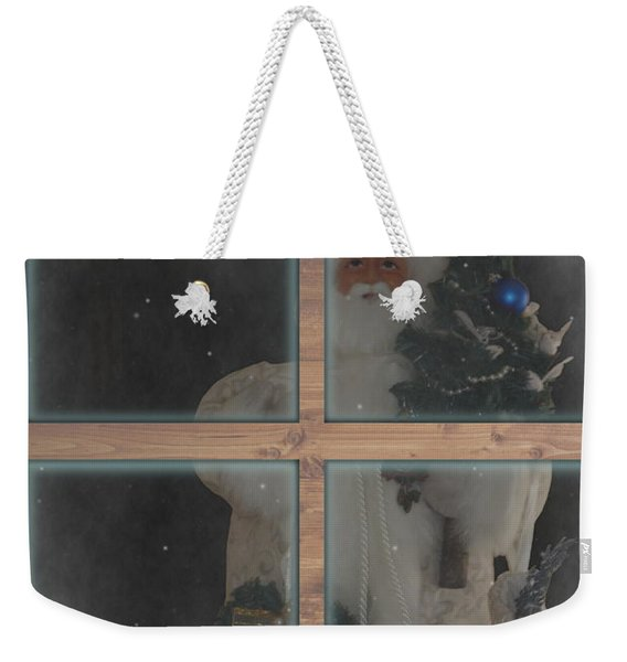 Father Christmas In Window Weekender Tote Bag