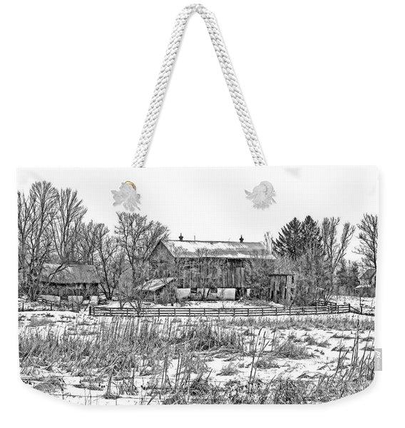 February Farm Bw  Weekender Tote Bag