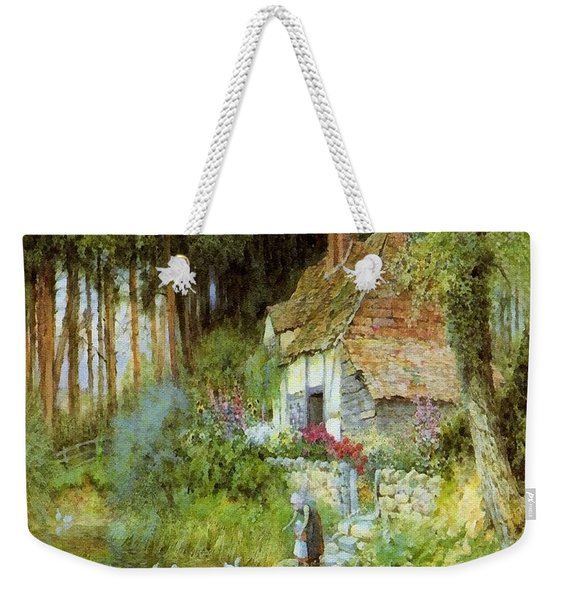 Feeding The Ducks - After The Original Painting By Arthur Claude Strachan L B Weekender Tote Bag
