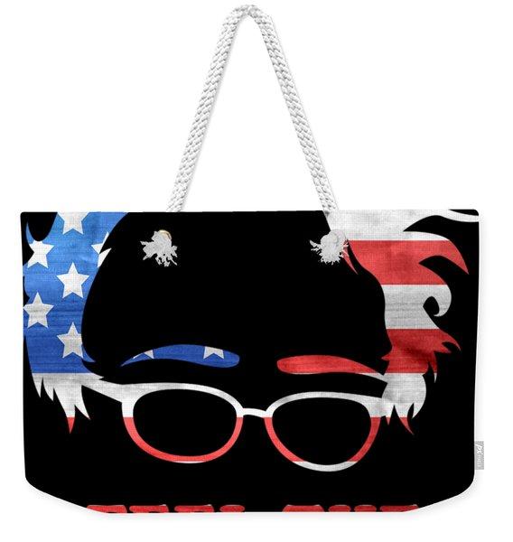 Weekender Tote Bag featuring the digital art Feel The Bern Patriotic by Flippin Sweet Gear