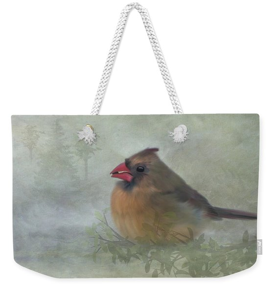 Female Cardinal With Seed Weekender Tote Bag