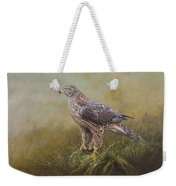 Female Goshawk Paintings Weekender Tote Bag