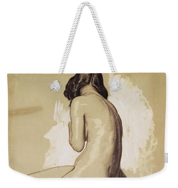 Female Nude, Study From Behind - Digital Remastered Edition Weekender Tote Bag