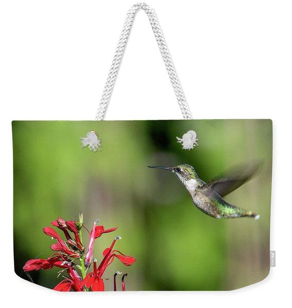 Female Ruby-throated Hummingbird Dsb0320 Weekender Tote Bag