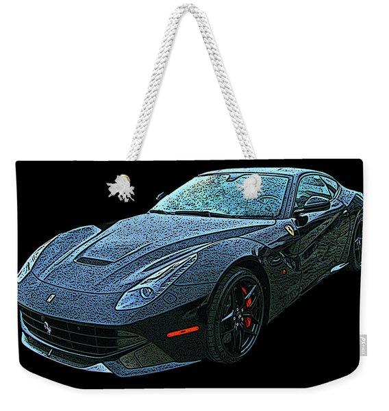 Ferrari F12 In Black Weekender Tote Bag