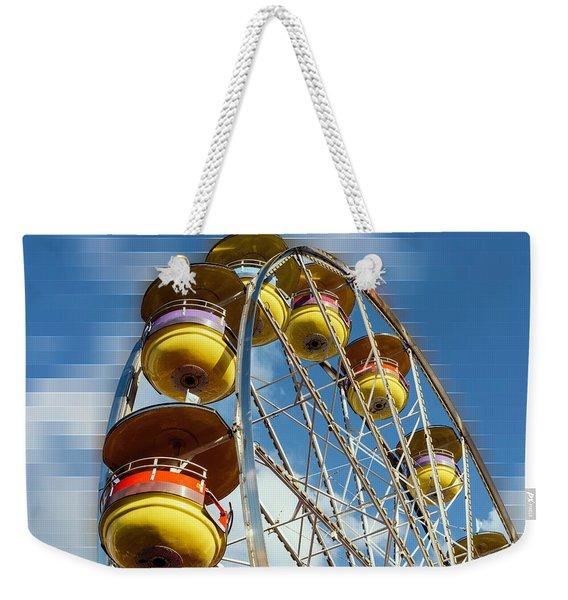 Ferris Wheel On Mosaic Blurred Background Weekender Tote Bag