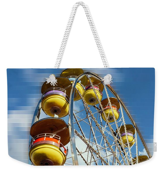 Ferris Wheel On Mosaic Blurred Background Weekender Tote Bag