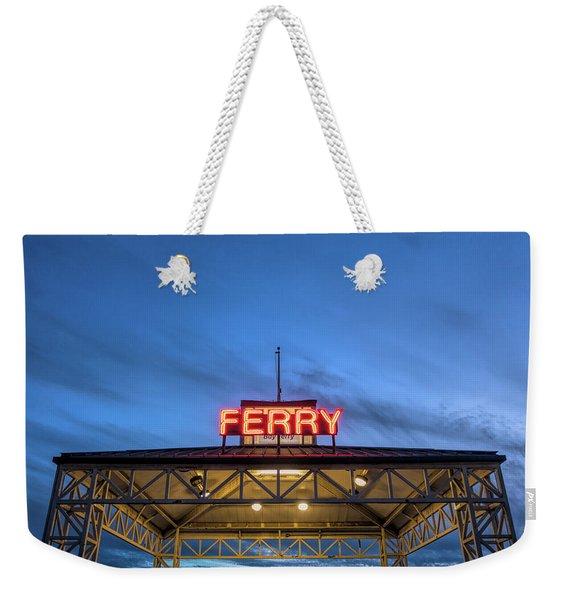 Ferry Terminal At Dusk, Jack London Weekender Tote Bag