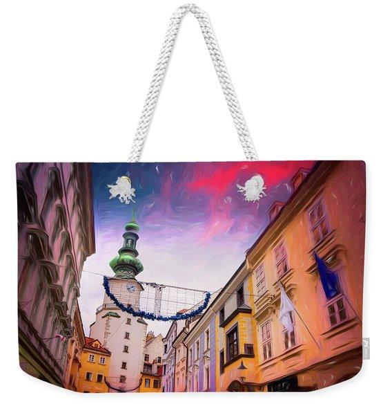 Festive Season In Bratislava Slovakia  Weekender Tote Bag