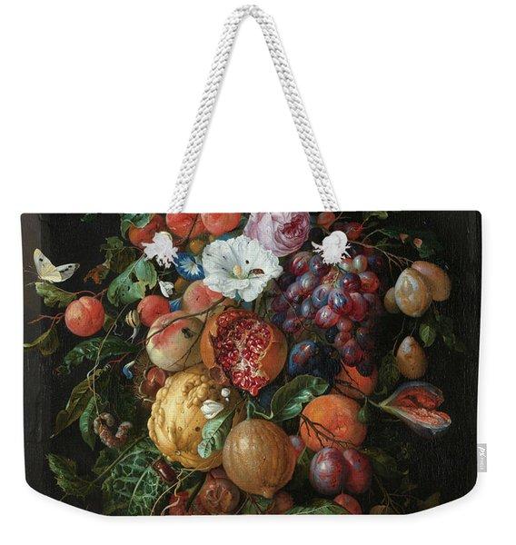 Festoon Of Fruit And Flowers, 1670 Weekender Tote Bag