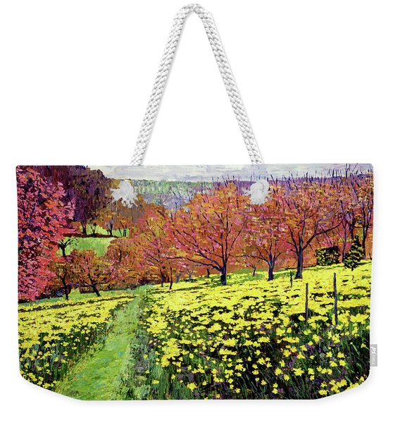 Fields Of Golden Daffodils Weekender Tote Bag