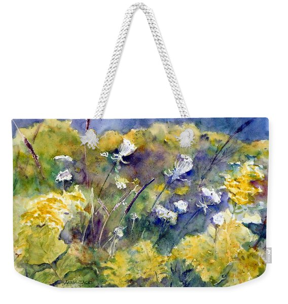 Fields Of White And Gold Weekender Tote Bag