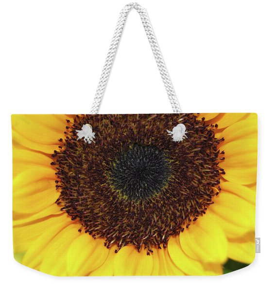 Weekender Tote Bag featuring the photograph Fiery Bloom by JAMART Photography