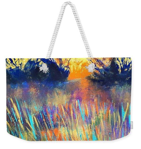 Fiery Marsh Weekender Tote Bag