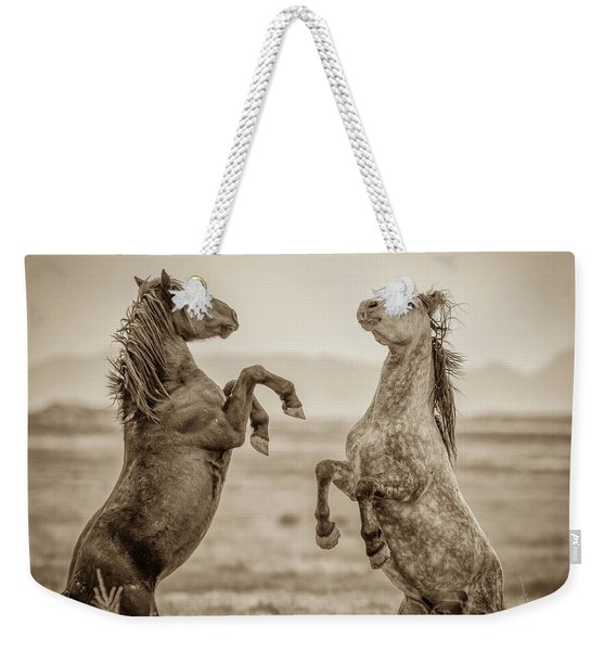Fighting Stallions 2 Weekender Tote Bag