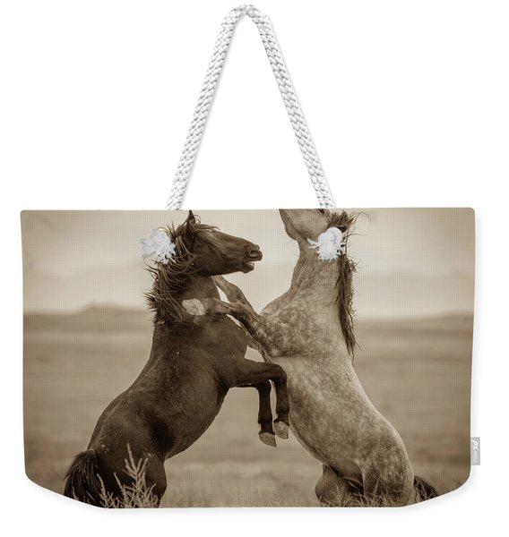 Fighting Stallions Weekender Tote Bag