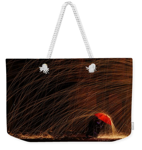 Fighting The Rain Weekender Tote Bag