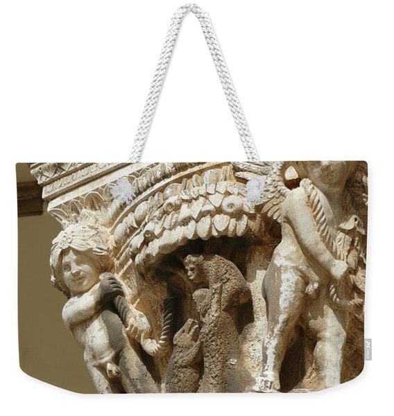 Figures On Capitals Of The Rector's Palace Weekender Tote Bag