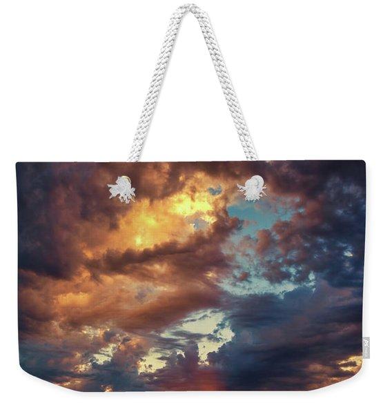 Finger Painted Sunset Weekender Tote Bag