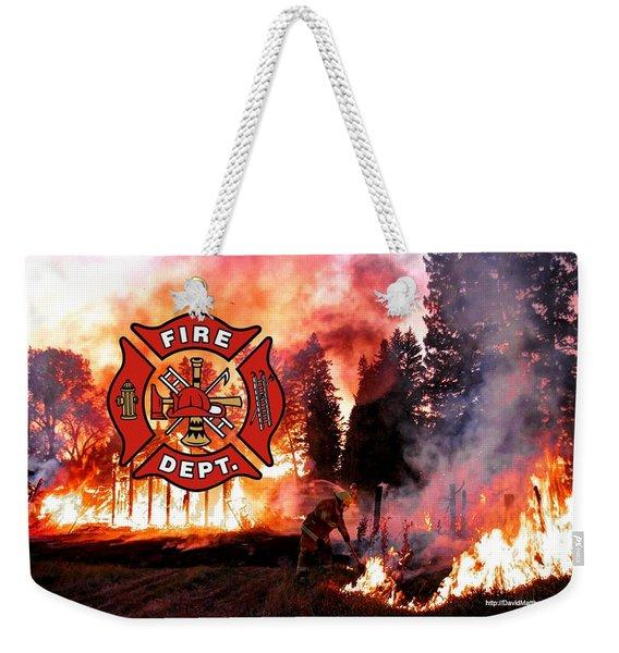Fire Fighting 3 Weekender Tote Bag