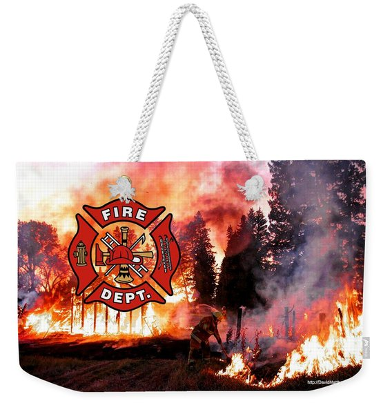 Fire Fighting 3 Weekender Tote Bag