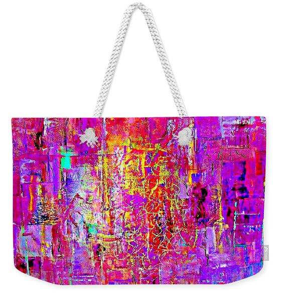Fire In My Heart Abstract Weekender Tote Bag
