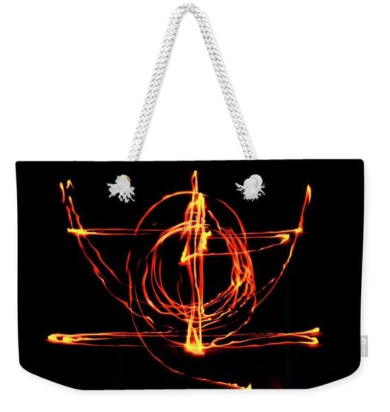 Fire Light Drawing Weekender Tote Bag