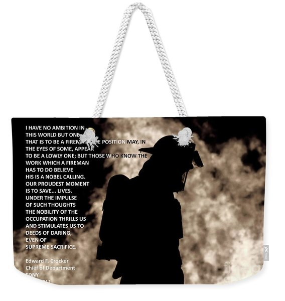 Firefighter Poem Weekender Tote Bag