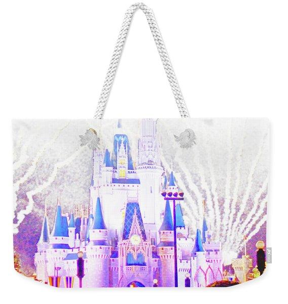 Fireworks, Cinderella's Castle, Magic Kingdom, Walt Disney World Weekender Tote Bag