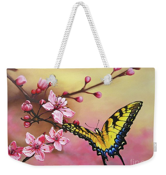First Blossom Of The Morning Weekender Tote Bag