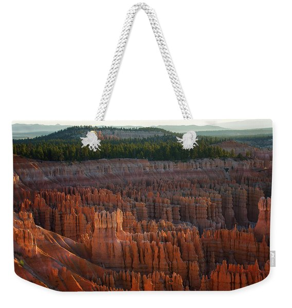 First Light On The Hoodoo Inspiration Point Bryce Canyon National Park Weekender Tote Bag