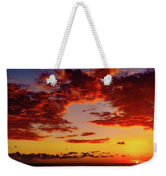First November Sunset Weekender Tote Bag