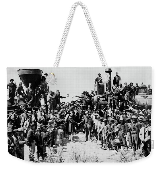 First Opening Of The Transcontinental Railroad - 1869 Weekender Tote Bag