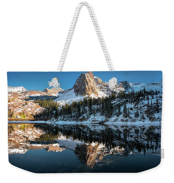 First Snow At Lake Blanche Weekender Tote Bag