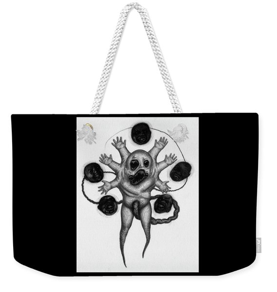 Weekender Tote Bag featuring the drawing Firstborn Of The Nursery Wing - Artwork by Ryan Nieves