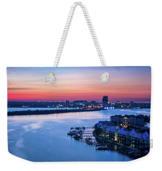 Firstlight Over Clearwater Weekender Tote Bag