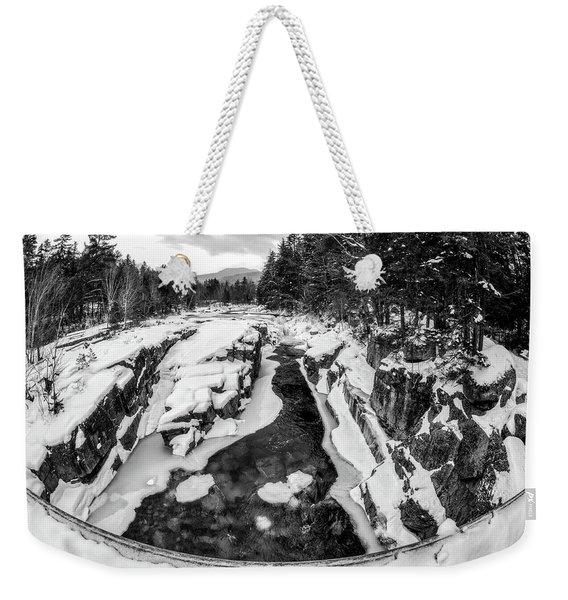 Fisheye View, Rocky Gorge Nh Weekender Tote Bag