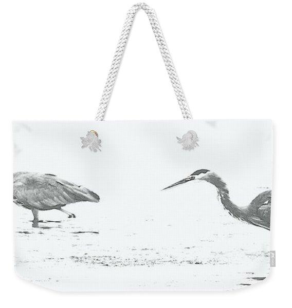 Fishing Blue Herons Weekender Tote Bag