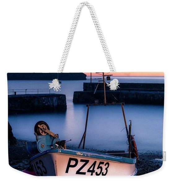 Fishing Boat In Mullion Cove Weekender Tote Bag