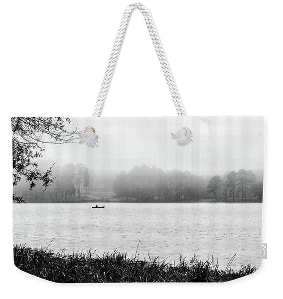 Fishing In The Fog Weekender Tote Bag