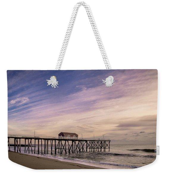 Fishing Pier Sunrise Weekender Tote Bag