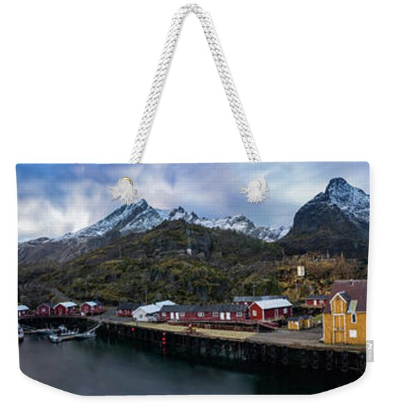 Fishing Village A On Lofoten Weekender Tote Bag